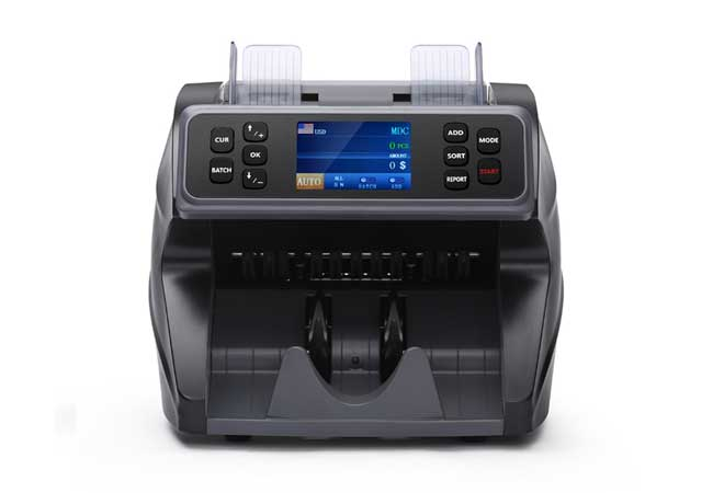 money counter and counterfeit detector